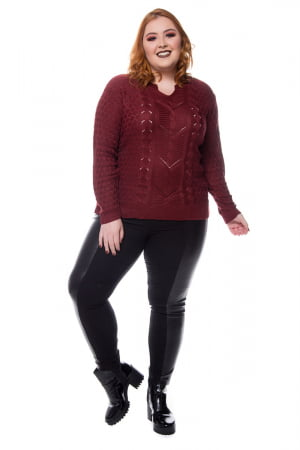blusa trico colmeia 0216
