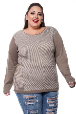 blusa trico lista fina 056