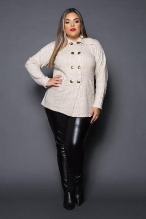 casaco de musse com bolso 0115
