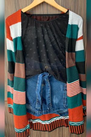 casaco listrado 0254p